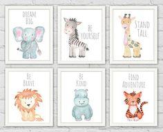 baby animal names Safari Animal Prints Safari Animals Baby Shower Gifts Baby Animal Nursery, Safari Nursery, Nursery Prints, Safari Bedroom, Baby Wall Art, Baby Art, Nursery Wall Art, Nursery Ideas, Nursery Themes