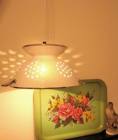 lamp made from colander