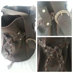 Dark Brown Large Round Sling bag with Lining