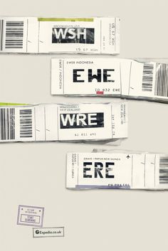 Expedia's airport code print campaign