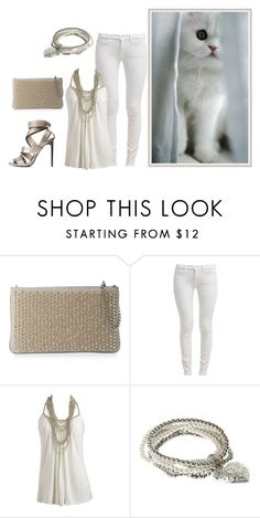 """White and Silver"" by grateful-angel ❤ liked on Polyvore featuring Christian Louboutin, 7 For All Mankind, Wet Seal, VIcenza and Tom Ford"