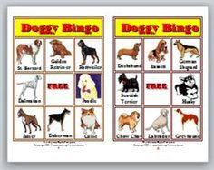 Doggy Bingo Game - Learn Dog Breeds