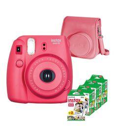 Another great find on #zulily! Raspberry Mini Film Camera, Case & 80-Shot Film Set #zulilyfinds