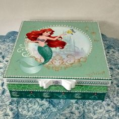 Decoupage Vintage, Diy And Crafts, Decorative Boxes, Disney Princess, Chic, Disney Characters, Jewelry, Handmade Crafts, Handmade Boxes