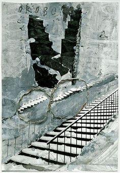 ANSELM KIEFER Oroborus, 2002 Painted photograph 45 x 30-3/4 inches (114 x 78 cm) Photo: Tom Powel