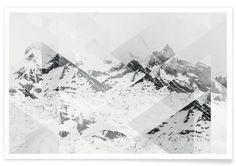 Perito Moreno BW Scattered - Premium Poster