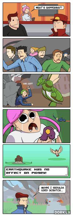 Disaster in Sinnoh - Dorkly Comic