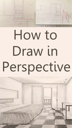 How to draw in perspective. What is linear perspective with one, two or three vanishing points and how to add figures when drawing. Atmospheric perspective and its influence on landscape painting. Pencil Drawing Tutorials, Pencil Art Drawings, Realistic Drawings, Drawing Tips, Easy Drawings, Art Tutorials, Art Sketches, Drawing Ideas, Realistic Rose