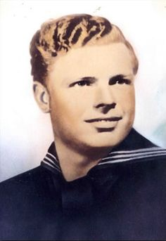 Navy Seaman First Class Johnnie David Hutchins of Weimer, Texas, was 21 years old when he was killed in action in the Pacific. He was presented the Medal of Honor posthumously for his actions.