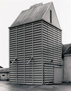 Bernd and Hilla Becher - Grain Elevator, Broquiers, France, 2005.