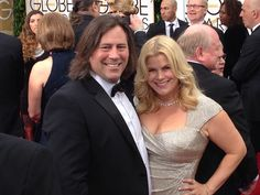 Paul Overacker and Marjorie DeHey at the 72nd Golden Globes Awards