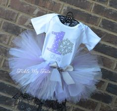 Current turnaround time is posted above the add to cart button.    Your little girl will look ADORABLE in this Winter ONEderland themed outfit. The