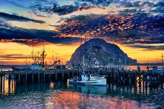 Morro Bay, CA - such a great surprise on our PCH ride from L.A. to Napa.