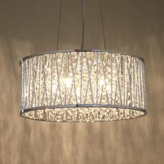 Buy John Lewis Emilia Drum Crystal Pendant Light Online at johnlewis.com 270.00