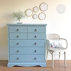 """147 Likes, 4 Comments - Rebecca • With the Grain • QLD (@withthegrainhome) on Instagram: """"SOLD - Another stunning colour from @countrychicpaint, Elegance, dresses this chest of drawers up…"""""""