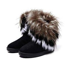 Sale Preis: Minetom Damen Winter Schnee Stiefel Stiefeletten Warm Pelz Stiefel Schuhe (Schwarz 38). Gutscheine & Coole Geschenke für Frauen, Männer & Freunde. Kaufen auf http://coolegeschenkideen.de/minetom-damen-winter-schnee-stiefel-stiefeletten-warm-pelz-stiefel-schuhe-schwarz-38