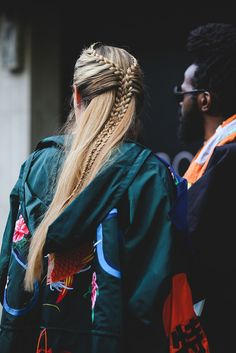 Hairstyles To Steal From LFW's Street Style Stars #refinery29 http://www.refinery29.uk/street-style-lfw-hair-inspiration#slide-25 This style is one for the brave (and the patient) but it's certainly worth the time and effort....