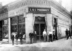 Jesse Lowe, who was elected Omaha's first mayor in 1857, operated this drug store at 16th and Farnam Streets.  The photo, taken in 1892, shows some of his employees standing in front of the doors. The current city hall, just a few blocks west of this location, has a conference room named for Lowe. THE WORLD-HERALD  Like anything you see? Contact Michelle at Michelle.Gullett@owh.com or call 402-444-1014 to purchase prints.