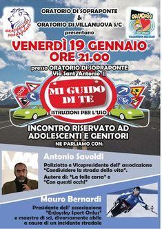 🚦 Domani sera interessante incontro a Sopraponte di Gavardo per parlare a giovani, adolescenti e genitori del rapporto tra guida, alcool e stupefacenti  Prevenire è sempre meglio!