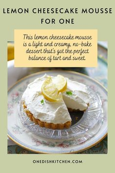This lemon cheesecake mousse is a light and creamy, no-bake dessert that's got the perfect balance of tart and sweet.