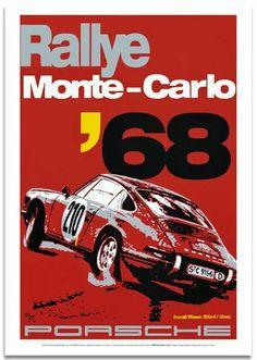 Porsche Monte-Carlo Rallye 1968 Poster
