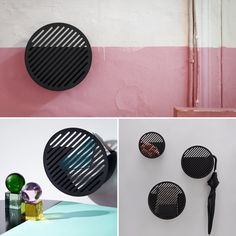 Tongue-in-cheek yet practical: the quirky metal Diagonal Wall Basket adds an unexpected note to hallways and entryways with its bold geometric form. Baskets On Wall, Storage Baskets, Wall Basket, Hallway Decorating, Entryway Decor, Entryway Shelf, Geometric Form, Decorative Storage, Scandinavian Interior