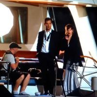 """Fifty Shades Trilogy on Instagram: """"BTS pic from tonight's filming.  #TheGrace ● notice their outfit: Dakota wearing silver dress and shoes, Jamie with a bow tie #masqueradeball (Credit lightboxgallery via Twitter) #fiftyshades #fiftyshadesmovie #fiftyshadesdarker #fiftyshadesfreed #fiftyshadestrilogy #JamieDornan #christiangrey #mrgrey #DakotaJohnson #AnastasiaSteele #AnastasiaGrey"""""""