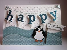 #stampin up - Happy Birthday - Owl Punch -  Eulenstanze - Pinugin