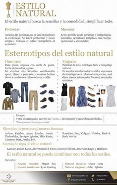 ¿Buscas la comodidad en tus prendas?  Esta característica predomina en el Estilo Natural.