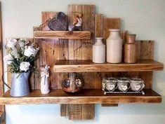 20 Brilliant DIY Pallet Furniture Design Ideas to Inspire You - diy pallet creations Diy Pallet Wall, Wooden Pallet Projects, Wooden Pallet Furniture, Pallet Shelves, Wooden Pallets, Rustic Furniture, Pallet Ideas, Pallet Sofa, Cheap Furniture