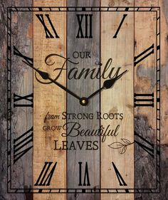 This beautiful inspirational word clock is made from recycled pallets, sanded, stained and made into a magnificent wall clock that is inspirational, rustic a...