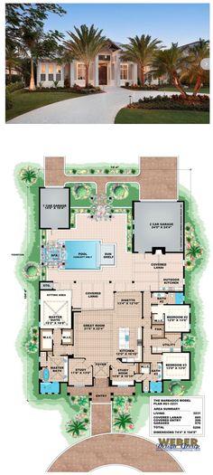 G1-3231- Barbados, waterfront house plan. 3 bedrooms, 3 full baths, 3 car garage in 3,231 square feet of living area. More waterfront house plans https://www.weberdesigngroup.com/home-plans/style/waterfront-house-plans/ #houseplans #coastalhouseplans #