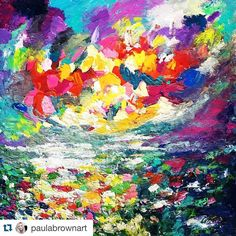 I love the colors and the feel of of this piece by @paulabrownart. Tag #talentedpeopleinc and follow us for a featured post!  Fresh off the easel  #freshofftheeasel #paintingoftheday #painting #art #nothingisordinary #abstractart #abstractlandscape #colourful #color #contart2bseen #galleryofnow #artpeoplegallery #talentedpeopleinc #flaming_abstracts #brightcolour #brightcolorsmakemehappy #colourtherapy #feelinghappy #sunset #brightsky #acrylicpainting #gallery #instaart #nothingisordinary by…