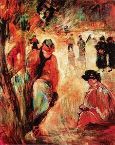 Berthe Morisot - Skating in the Park