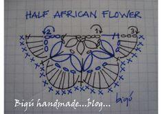 Bigú Handmade: Medio granny African Flower ( Half African flower)...#