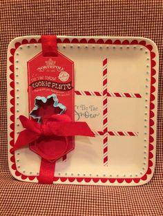 Hallmark Northpole Tic Tac Snow Cookie Plate-Brand New!