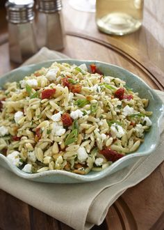Orzo with Sundried Tomatoes and Goat Cheese | Ontario Goat Cheese