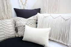 Dorm season is finally here. We are so excited to launch these gorg dorm bedding designs we have been working on for months. This season we're seeing tons of pattern (think palm), texture, macrame, and unexpected fabrics. Of course, neutrals are always a good idea. Dorm Room Headboards, Dorm Bedding Sets, Cute Dorm Rooms, College Dorm Rooms, Dorm Bed Skirts, Dorm Room Designs, Dorm Room Organization, Dorm Ideas, Room Essentials