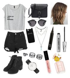 """"""""""" by sara-m-shrekgast ❤ liked on Polyvore featuring Topshop, Christian Dior, LULUS, Daniel Wellington and Bare Escentuals"""