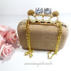 Bolsa de festa, Clutch dourada  99,90 visite nosso site  www.mimopink.com.br