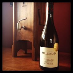 Chateau Millegrand Minervois in the Oxbox wine preservation system.  Oxbox preserves your favorite bottle of wine so you can enjoy one glass at a time over days or weeks.   Handcrafted in the Pacific Northwest with sustainably harvested American black walnut. It's a whole new take on boxed wine.  $695