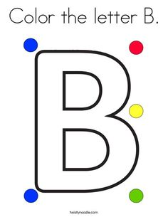 Color The Letter B Coloring Page