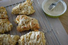 Pasta & Croissants: Pear Scones with Maple Cream Cheese Glaze