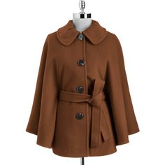 Ellen Tracy Belted Cape Coat and other apparel, accessories and trends. Browse and shop 4 related looks.