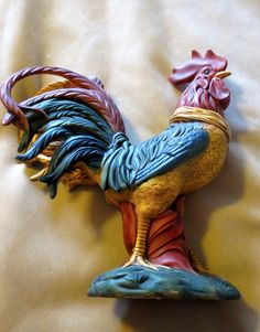 Hand Painted Ceramic Rooster $24.95 Fun Things, Cool Things To Buy, Ceramic Rooster, Treasure Hunting, Hand Painted Ceramics, Antique Shops, Amazon, Antiques, Books
