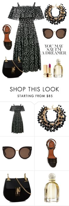 """""""Exterior."""" by gatocat ❤ liked on Polyvore featuring Nobis, Dolce&Gabbana, Yves Saint Laurent, STELLA McCARTNEY, Givenchy, Chloé and Balenciaga"""