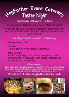 Really Looking Forward To Paring In The Hogfather Event Caterers Taster Night On Wednesday 15th March