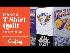 VIDEO TUTORIAL: T-shirt quilting step-by-step (with free pattern) | Craftsy Quilting with Angela Walters - YouTube