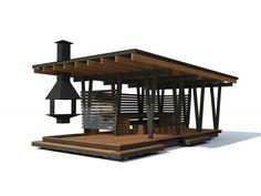 Беседка под ключ 8 х 4 метра 120 Backyard Covered Patios, Backyard Patio Designs, Backyard Landscaping, Modern Gazebo, Modern Barn House, Welding Design, Outdoor Pergola, Restaurant Design, Home