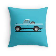 Series 3 PickUp 109 Blue Sky  #redbubble #landrover #landy #landroverseries #series3 #landroverpickup #ARVwerks #apparel #merchandise #carart #art #automotive #british #pickup #pickuptruck #landrover109 #throwpillow